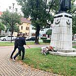 VZDOR-strana práce a Socialisti.sk spoločne položili kyticu k soche kpt. Jána Nálepku v Spišskej Novej Vsi: Strany prerokovali aj ďalšie možnosti hlbšej spolupráce